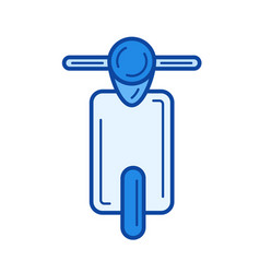 retro scooter line icon vector image