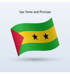 Sao Tome and Principe flag waving form vector image