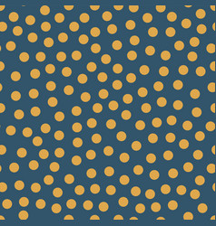 seamless repeat orange dots on blue background vector image