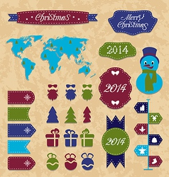 Set Christmas Infographic design elements group vector image