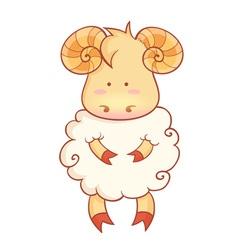 sheep character chinese new year symbol vector image