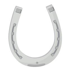 Silver horse shoe vector