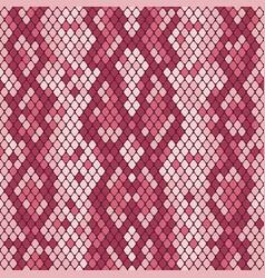 snakeskin seamless pattern realistic texture vector image