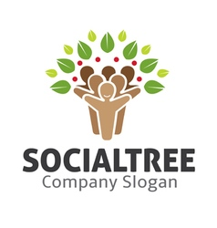 Social Tree Design vector image