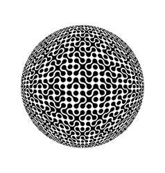 Sphere collected from many elements vector image