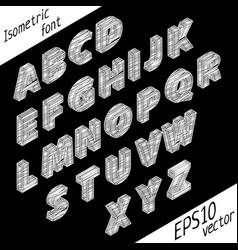 stylish isometric font poster vector image