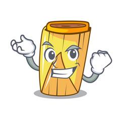 Successful corn tamales shape on the cartoon vector