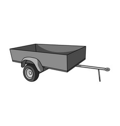 trailer with sides for carcar single icon in vector image