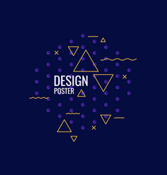 trendy abstract graphic geometric shapes on a vector image