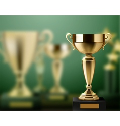 Trophy Awards Realistic Background vector