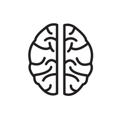 brain icon on white background brain icon sign vector image vector image