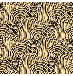 Curly seamless waves vector image