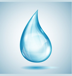 one big blue drop vector image vector image