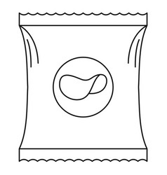 potato chip icon outline style vector image vector image