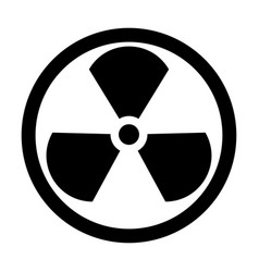 Sign radioactive the black color icon vector