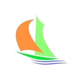 Symbolic image of a sailboa vector image vector image