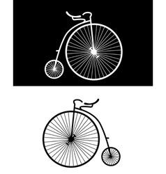 vintage bikes vector image vector image