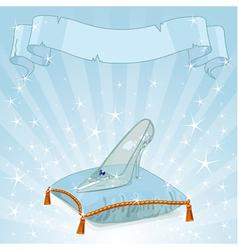 Crystal slipper background vector image