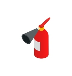 Fire extinguisher icon isometric 3d style vector image