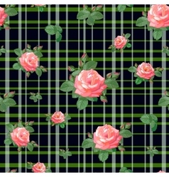 pattern with roses and stripes vector image