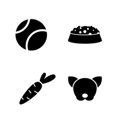 pet simple related icons vector image