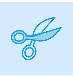 Scissors Icon Simple Blue vector image