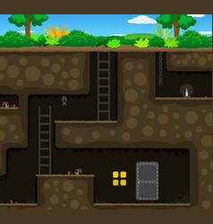 Underground door cartoon vector