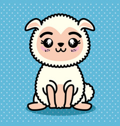cute and lovely sheep cartoon vector image