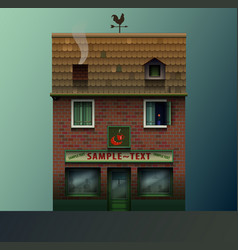 cute realistic shop or cafe vector image
