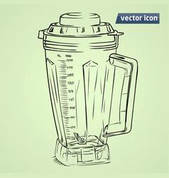 hand drawn mixer vector image vector image