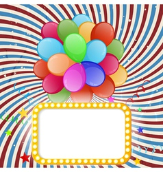 Holiday banner with color balloons vector