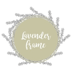 Lavender Template of a circular frame vector image vector image