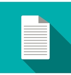 Lined paper icon flat style vector image