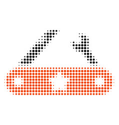 universal multitool knife halftone icon vector image vector image