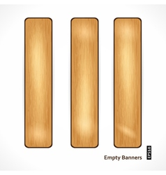 Wooden Eco Banner vector image vector image