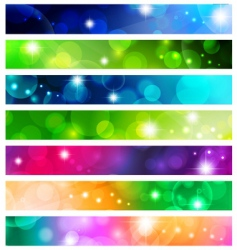 banner set vector image vector image