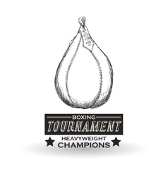 Boxing design Tournament icon White background vector image vector image