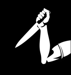 man holding a knife vector image