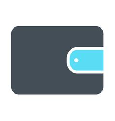 wallet silhouette icon simple minimal pictogram vector image