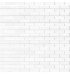 white brick wall seamless vector image vector image