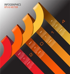 2014 infographic Calendar vector