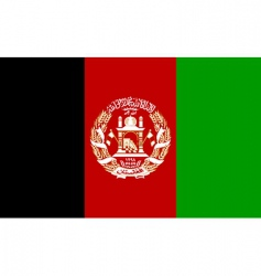afghanistan flag vector image vector image