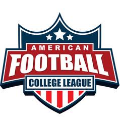 American football college league badge logo design vector