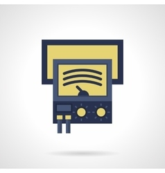 Ammeter flat color icon vector