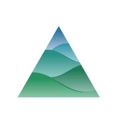 Artistic triangle hills symbol logo design vector