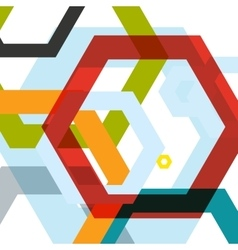 background of large colored hexagons eps vector image
