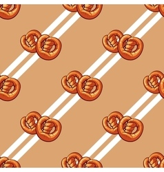Bagels Seamless Pattern vector image