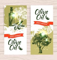Banner set vintage olive splash backgrounds vector