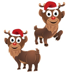 barudolph the reindeer two poses vector image