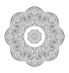 Beautiful deco monochrome contour mandala vector